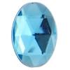 Acrylic 18x13mm Oval Facet Aqua
